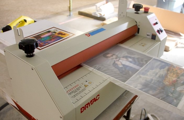 how to use laminate film