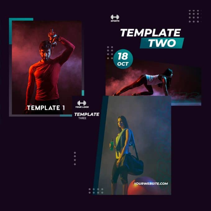 Graphic templates give ideas and inspiration for your customers.
